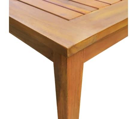 acheter vidaxl mobilier de jardin 9 pcs bois d 39 acacia massif marron pas cher. Black Bedroom Furniture Sets. Home Design Ideas