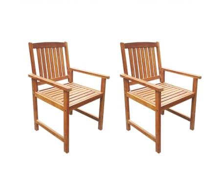 vidaXL Garden Chairs 2 pcs Solid Acacia Wood Brown