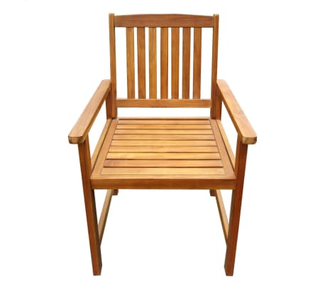 Vidaxl sillas de comedor de exterior 2 unidades madera for Sillas comedor exterior