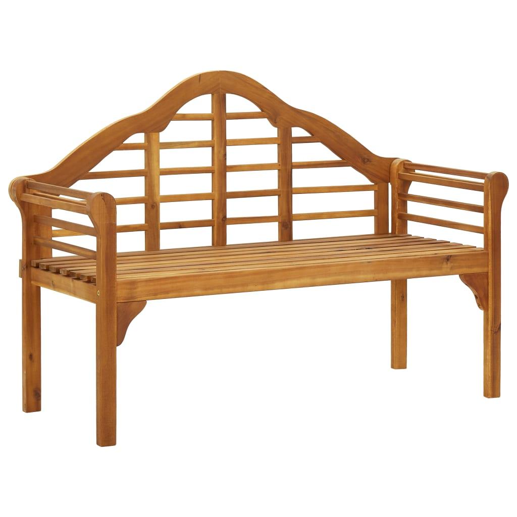 vidaXL Bancă de grădină cu 2 locuri, lemn masiv de acacia vidaxl.ro