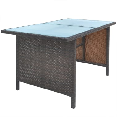vidaxl garten essgruppe 18 tlg poly rattan braun zum schn ppchenpreis. Black Bedroom Furniture Sets. Home Design Ideas
