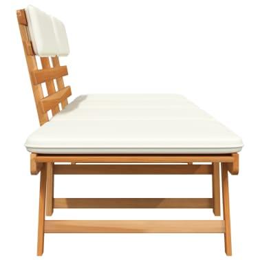 vidaXL Gartenbank 2-in-1 mit Polstern 190 cm Massivholz Akazie[3/6]