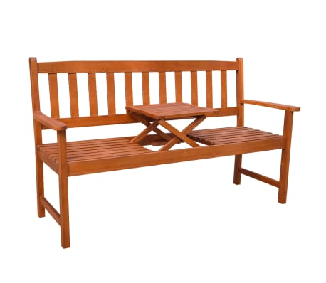 vidaXL Garden Bench with Pop-up Table Acacia Wood[1/5]