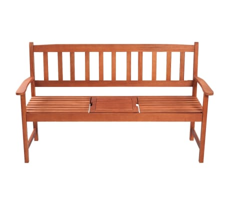 vidaXL Garden Bench with Pop-up Table Acacia Wood[2/5]