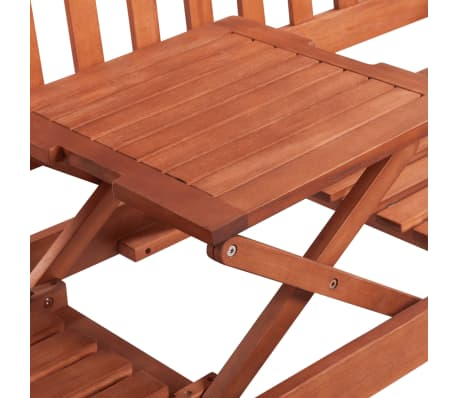 vidaXL Garden Bench with Pop-up Table Acacia Wood[4/5]