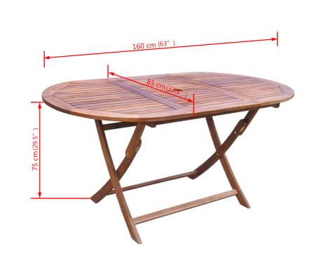 vidaXL 9-cz. zestaw mebli ogrodowych, poduszki, lite drewno akacjowe[11/14]