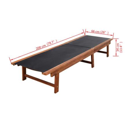 vidaXL 9-daļīgs dārza mēbeļu komplekts ar matračiem, akācijas koks[13/14]