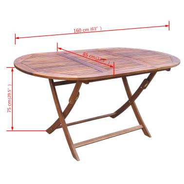 vidaXL 9-daļīgs dārza mēbeļu komplekts ar matračiem, akācijas koks[11/14]