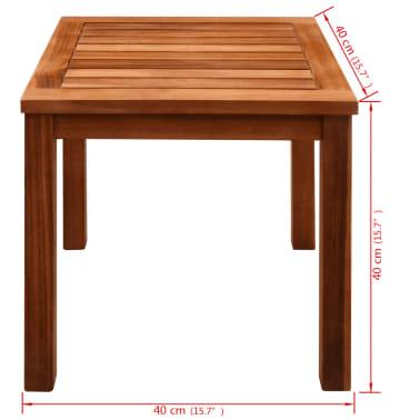 vidaXL 9-cz. zestaw mebli ogrodowych, poduszki, lite drewno akacjowe[12/14]