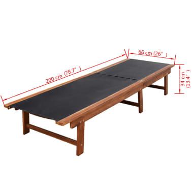 vidaXL 9-cz. zestaw mebli ogrodowych, poduszki, lite drewno akacjowe[13/14]