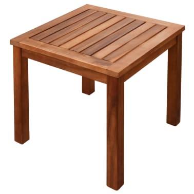 vidaXL 9-cz. zestaw mebli ogrodowych, poduszki, lite drewno akacjowe[5/14]