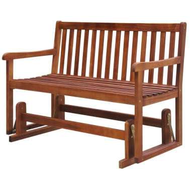 Remarkable Vidaxl Garden Swing Bench 48 8 Solid Acacia Wood Brown Pabps2019 Chair Design Images Pabps2019Com
