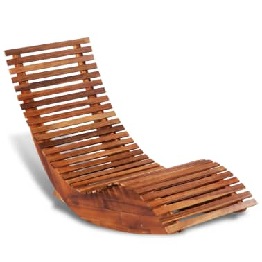 vidaXL Rocking Sun Lounger Acacia Wood[1/4]
