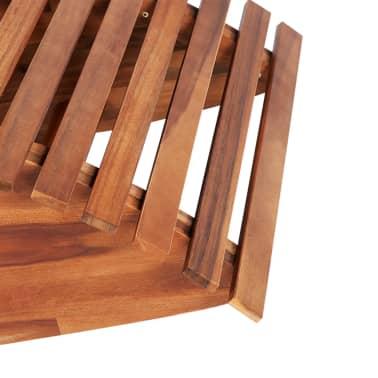 vidaXL Chaise longue basculante Bois d