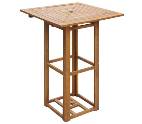 "vidaXL Bistro Table 29.5""x29.5""x43.3"" Solid Acacia Wood[1/4]"