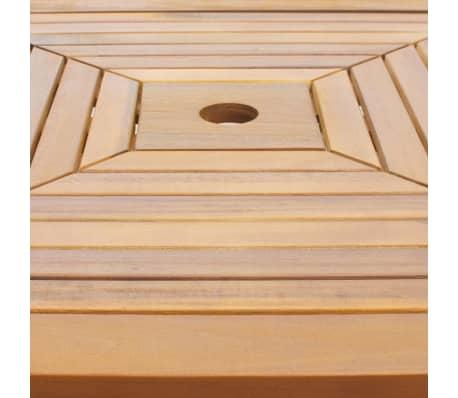 "vidaXL Bistro Table 29.5""x29.5""x43.3"" Solid Acacia Wood[3/4]"