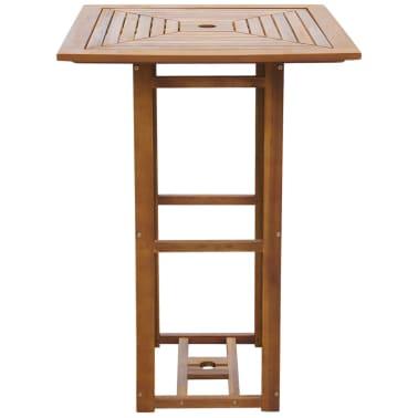 "vidaXL Bistro Table 29.5""x29.5""x43.3"" Solid Acacia Wood[2/4]"