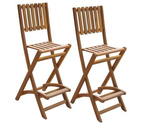Vidaxl Garten Klappstühle Barstühle 2 Stück Akazienholz Günstig