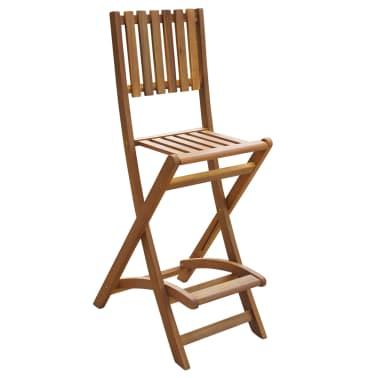 vidaXL saliekami dārza bāra krēsli, 2 gab., akācijas masīvkoks[2/4]