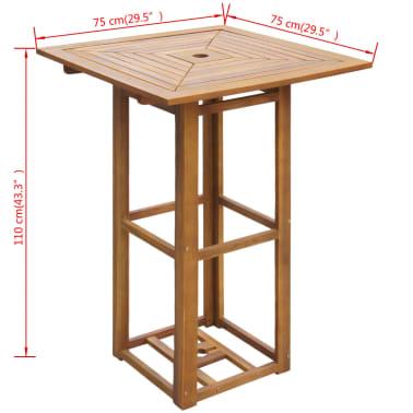 vidaXL 3 Piece Bistro Set Solid Acacia Wood[6/7]