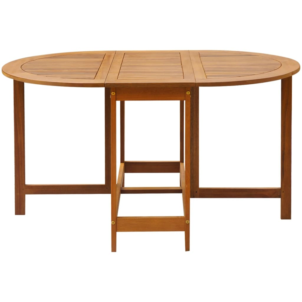 Oval Drop Leaf Table Acacia Wood
