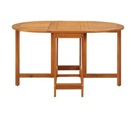 vidaXL Outdoor Oval Drop Leaf Table Garden Breakfast Dining Table Acacia Wood