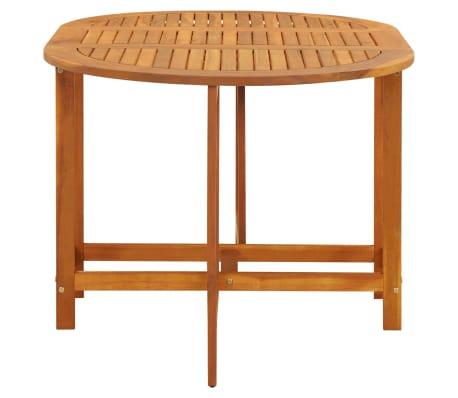 vidaXL dārza galds ar nolaižamu galda virsmu, akācijas koks, ovāls[3/5]