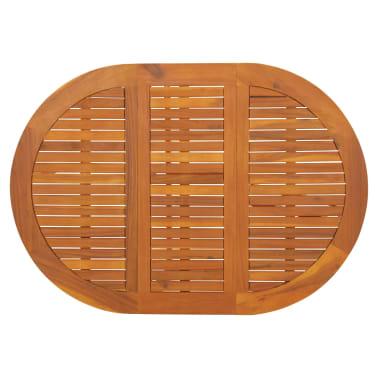 vidaXL dārza galds ar nolaižamu galda virsmu, akācijas koks, ovāls[4/5]