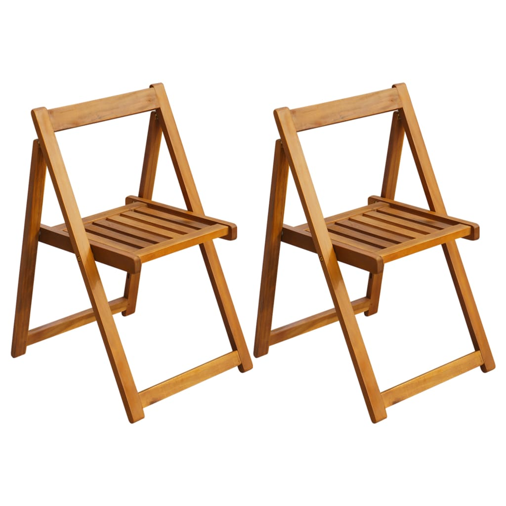 vidaXL Outdoor Folding Chairs 2 pcs Acacia Wood