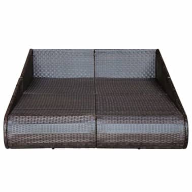 "vidaXL Daybed Poly Rattan 79""x54.7""x22.8"" Brown[5/6]"
