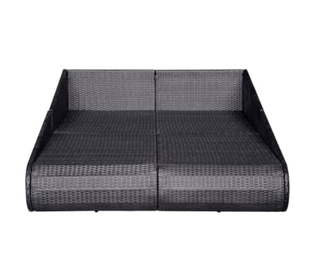 "vidaXL Garden Bed Black 79.1""x54.7"" Poly Rattan[4/6]"