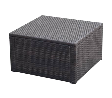 vidaxl hocker mit kissen poly rattan 53 53 30 cm braun zum schn ppchenpreis. Black Bedroom Furniture Sets. Home Design Ideas
