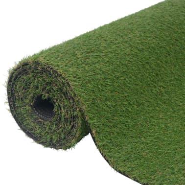 vidaXL Dirbtinė žolė, 1,5x5 m/20-25 mm, žalia[1/3]