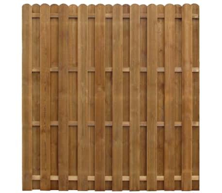 vidaXL Hit & Miss staketpanel impregnerad furu 170x170 cm