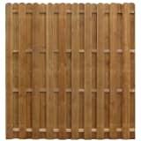 vidaXL Impregnated Hit & Miss Fence Panel 170x170 cm Pinewood