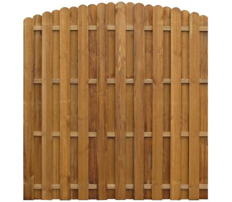 vidaXL Hit & Miss Fence Panel 170x(156-170)cm FSC Impregnated Pinewood[1/3]