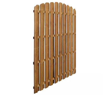 vidaXL Hit & Miss Fence Panel 170x(156-170)cm FSC Impregnated Pinewood[2/3]