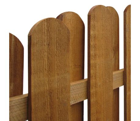 vidaXL Hit & Miss Fence Panel 170x(156-170)cm FSC Impregnated Pinewood[3/3]