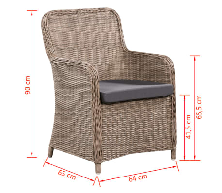 vidaxl garten essgruppe 17 tlg poly rattan braun g nstig. Black Bedroom Furniture Sets. Home Design Ideas