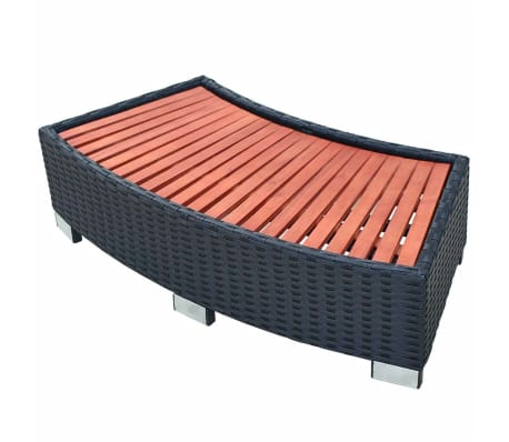 "vidaXL Spa Step Poly Rattan 36.2""x17.7""x9.8"" Black[1/4]"