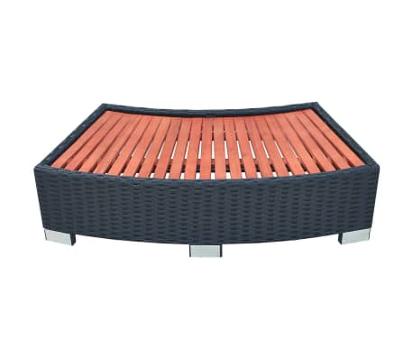 vidaXL Spa Step Poly Rattan 92x45x25 cm Black[2/4]