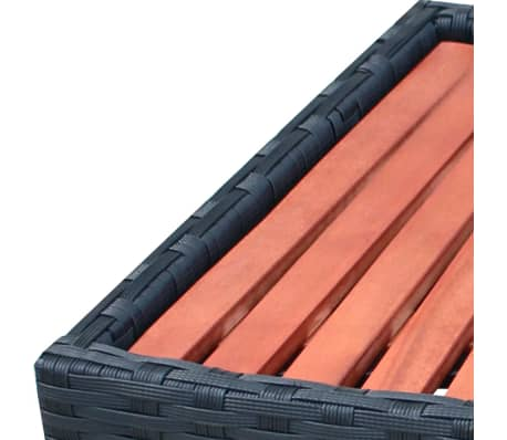 vidaXL Spa Step Poly Rattan 92x45x25 cm Black[4/4]