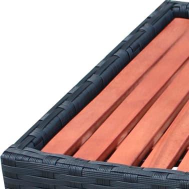 vidaXL SPA laiptelis, poliratanas, 92x45x25 cm, juodas[4/4]