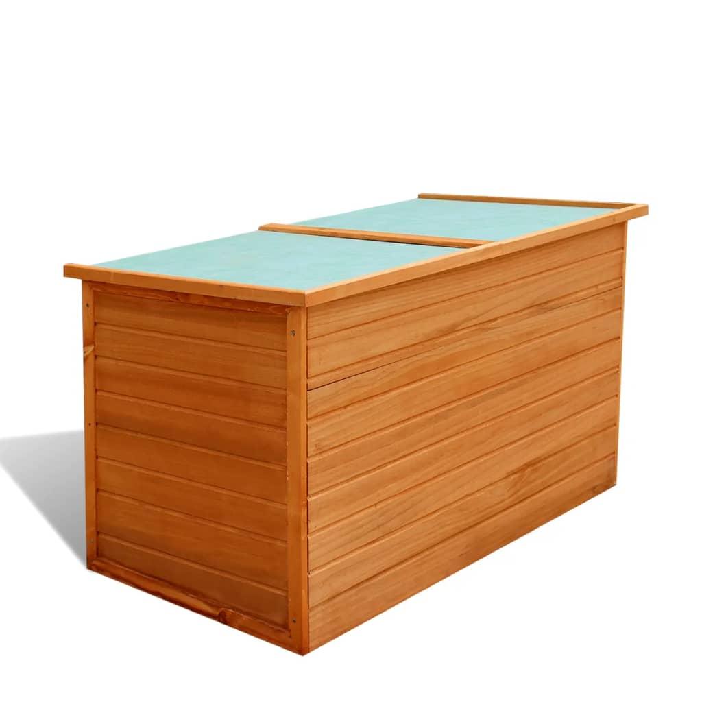 vidaXL Zahradní úložný box dřevěný