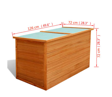 vidaXL Garden Storage Box Wood[7/7]