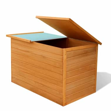 vidaXL Garden Storage Box Wood[3/7]