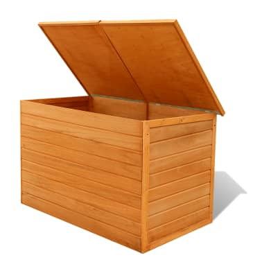 vidaXL Garden Storage Box Wood[4/7]