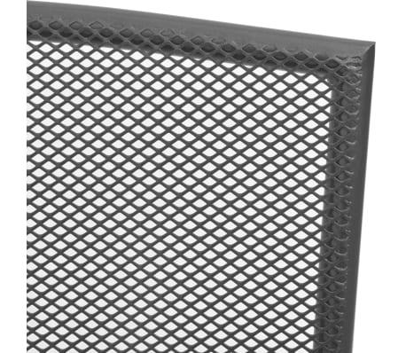 vidaXL Stapelbare Gartenstühle 2 Stk. Stahl Grau[5/6]