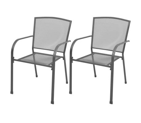 vidaXL Garten-Bistroset 3-tlg. Stahlgewebe[3/9]