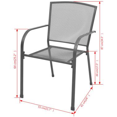vidaXL Garten-Bistroset 5-tlg. Stahlgewebe[9/10]